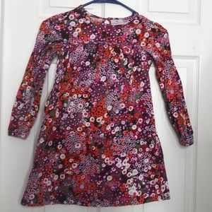 Hanna Andersson Red Brown Floral long Sleeve 6/7